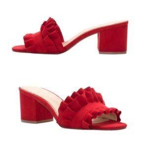 Jessica Simpson Red Ruffle Heeled Sandal